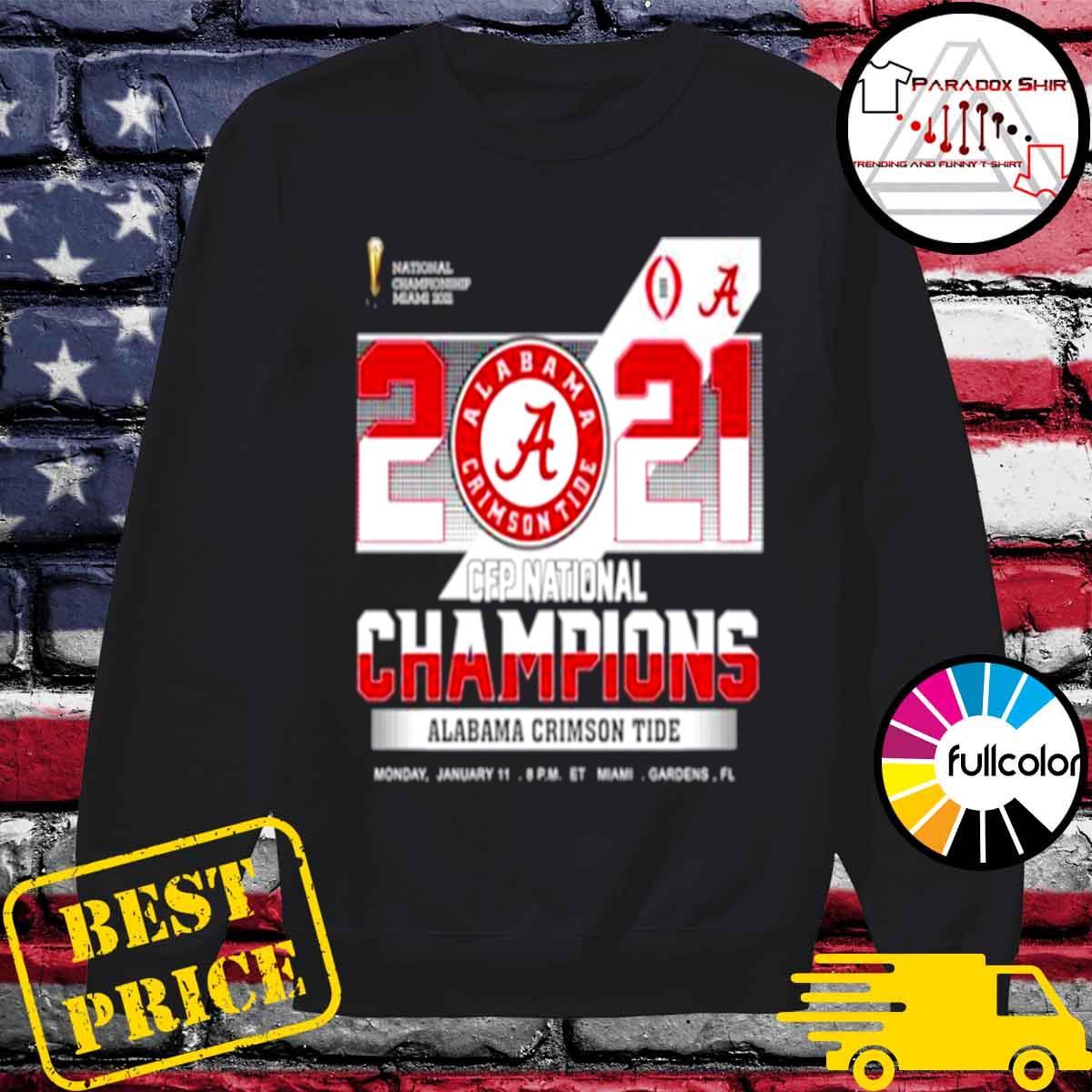 championship Miami 2021 CFP Alabama Crimson Tide 52 24 Ohio State s Sweater