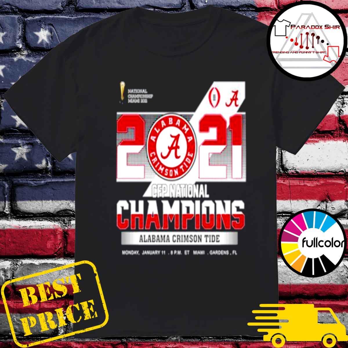 championship Miami 2021 CFP Alabama Crimson Tide 52 24 Ohio State shirt