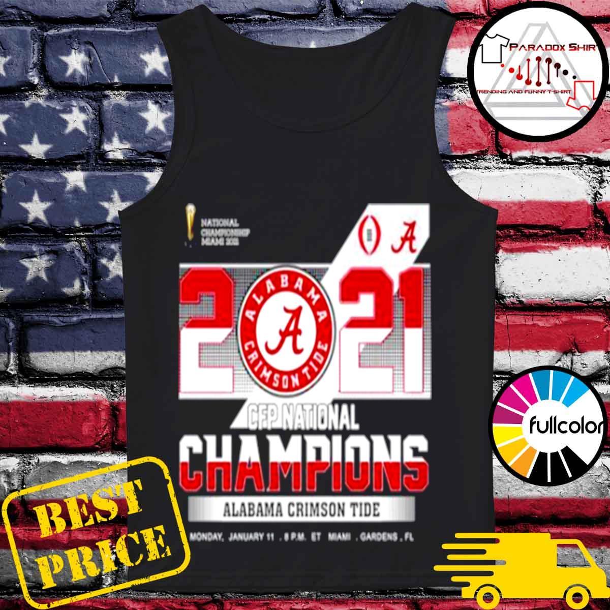 championship Miami 2021 CFP Alabama Crimson Tide 52 24 Ohio State s Tank-top