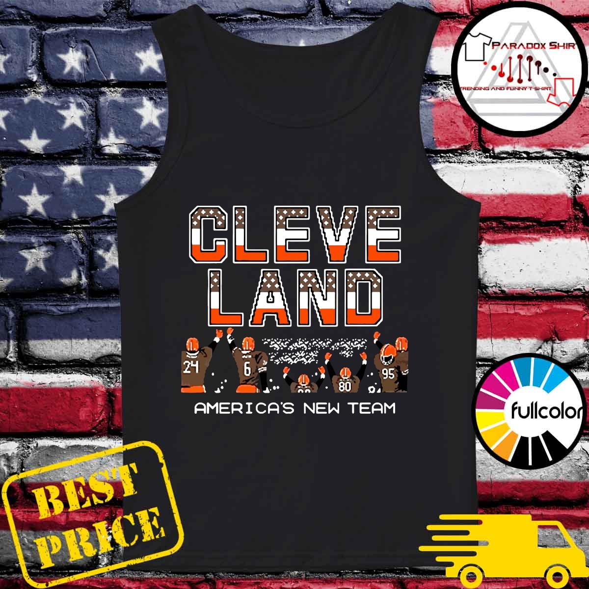 Cleveland Browns America's New Team Shirt Tank-top