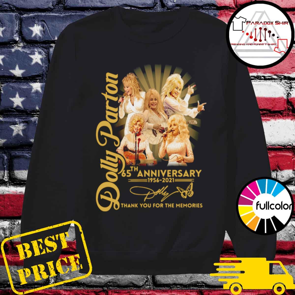 Dolly Parton 65th anniversary 1956 2021 thank you for the memories signature s Sweater
