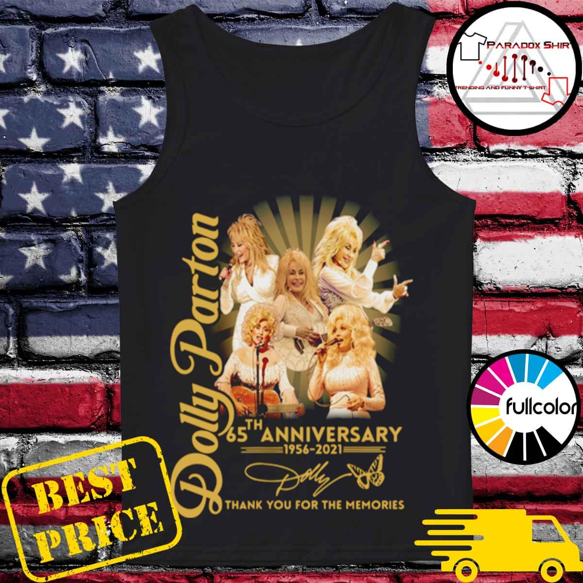 Dolly Parton 65th anniversary 1956 2021 thank you for the memories signature s Tank-top