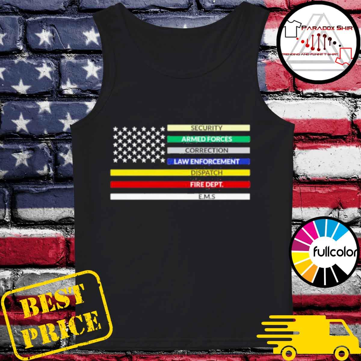 first responder american flag s Tank-top