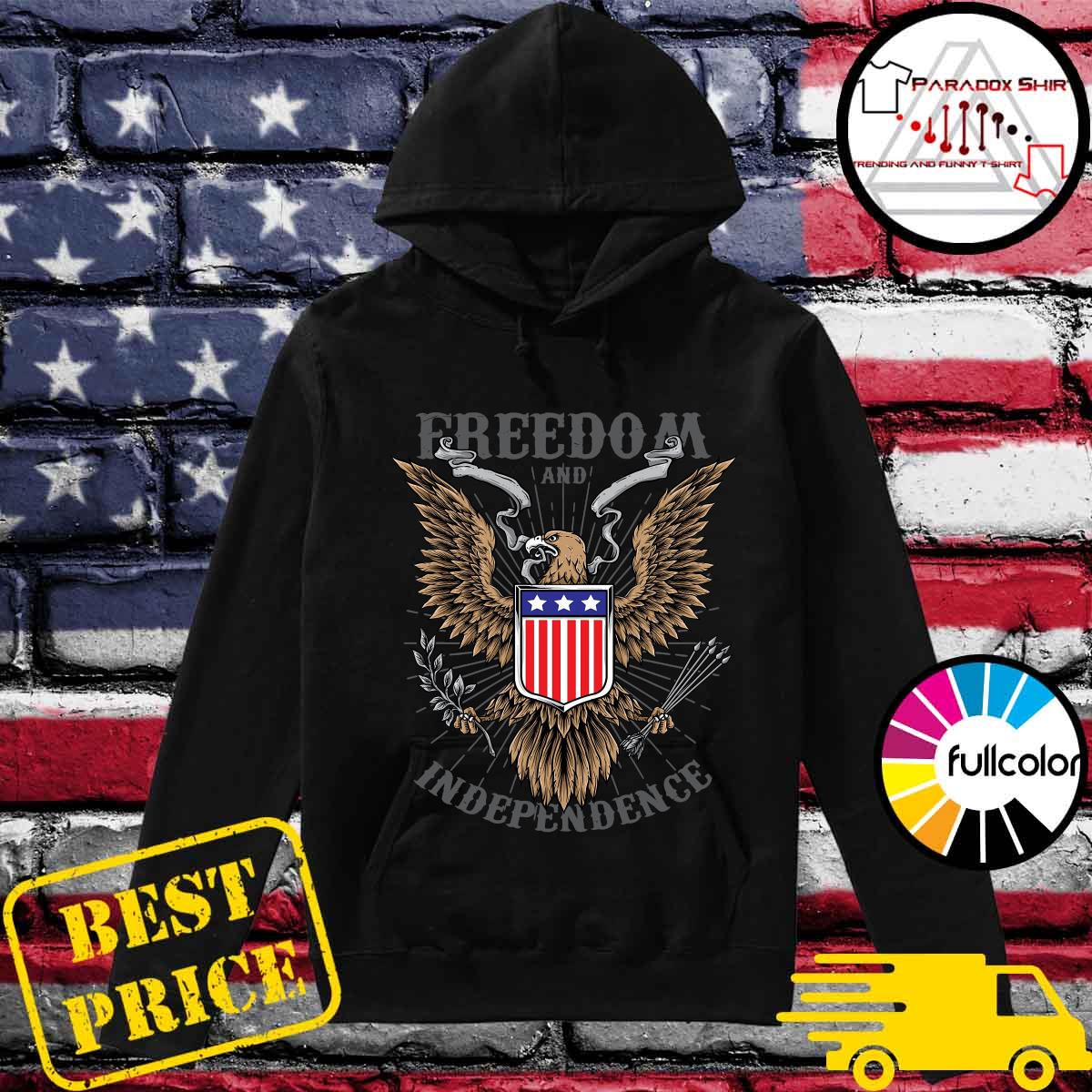 Freedom And Independence Eagle American Flag Shirt Hoodie