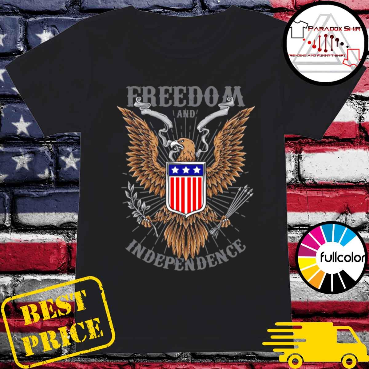 Freedom And Independence Eagle American Flag s Ladies