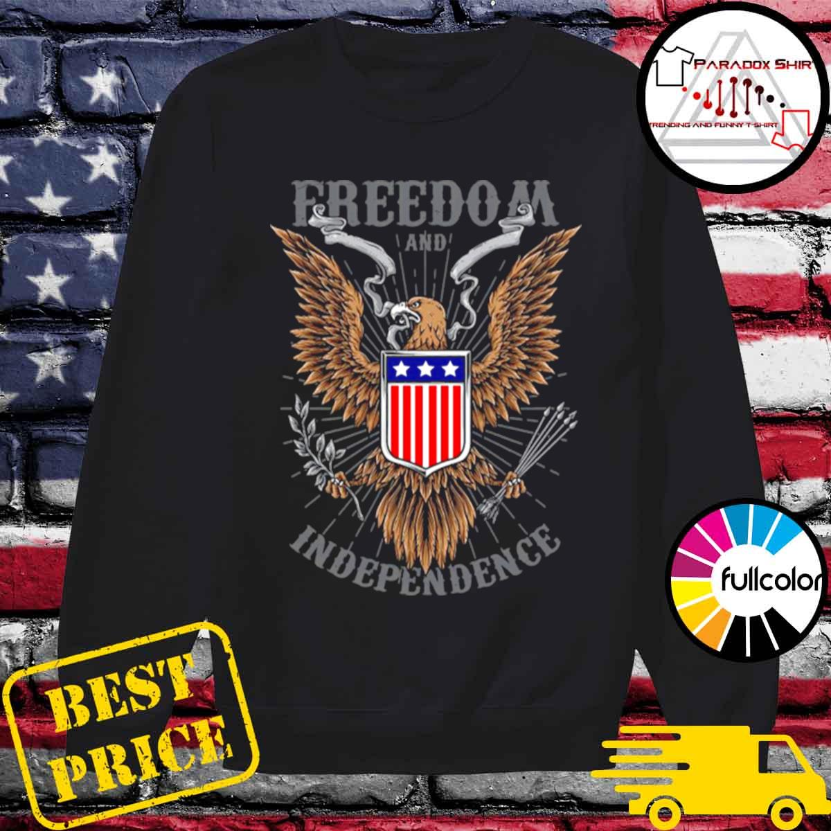 Freedom And Independence Eagle American Flag s Sweater