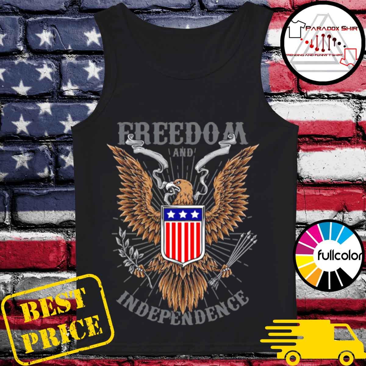 Freedom And Independence Eagle American Flag s Tank-top