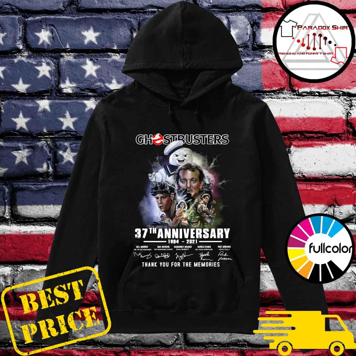 Ghostbusters 37th Anniversary 1984 2021 Thank You For The Memories Signatures Shirt Hoodie