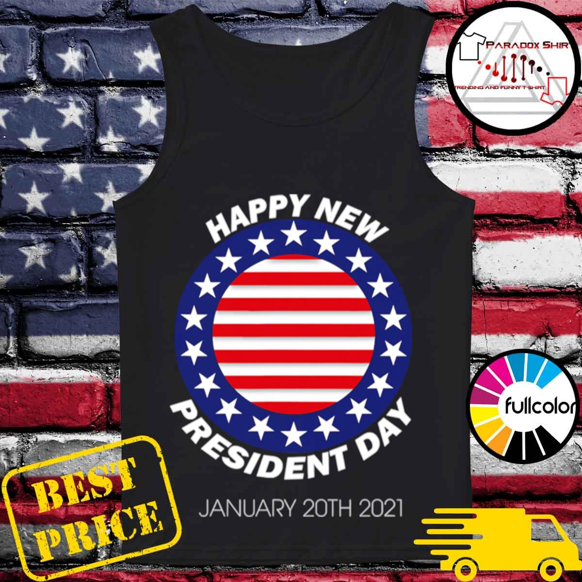 Happy New President Inauguration Day American Flag s Tank-top