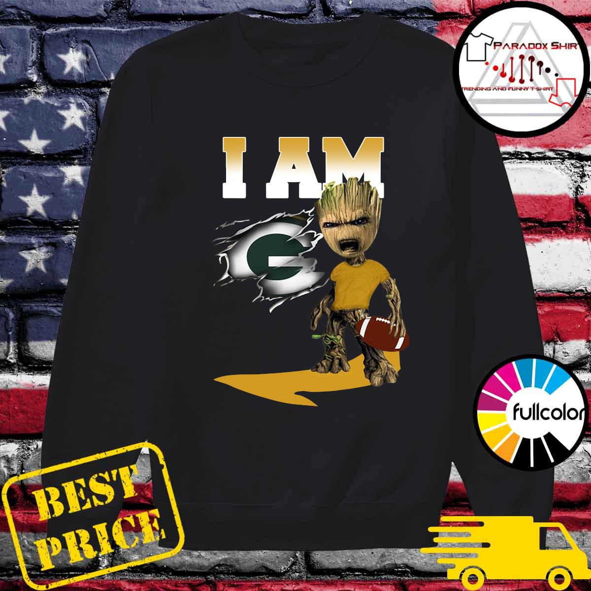 I Am Green Bay Packers Groot Shirt Sweater