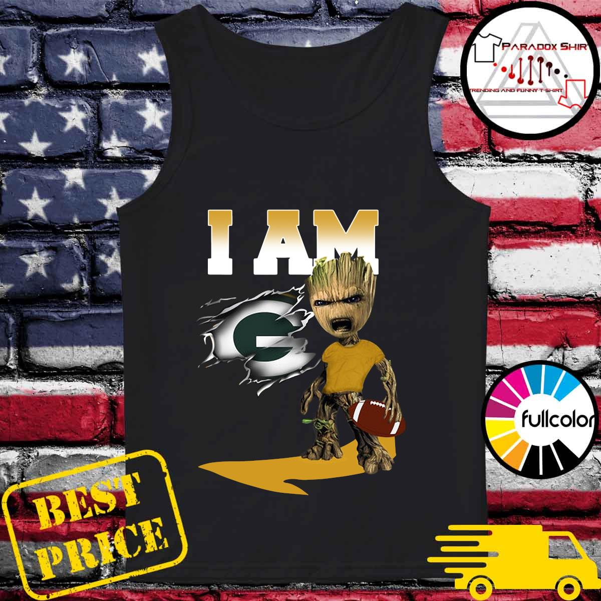 I Am Green Bay Packers Groot Shirt Tank-top