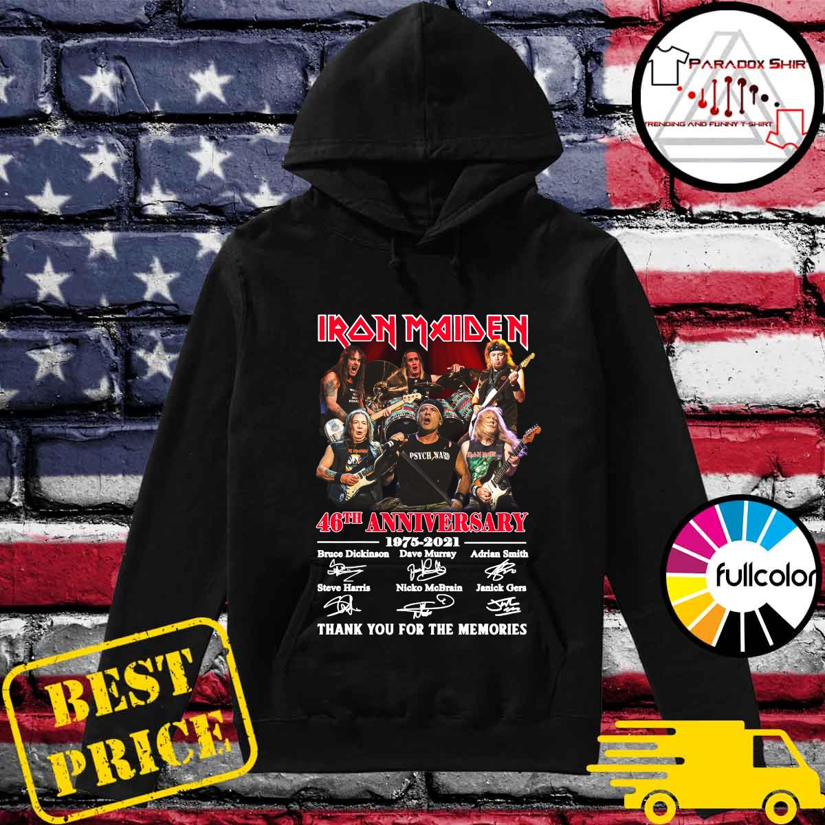 Iran Maiden 46th Anniversary 1975 2021 Thank You For The Memories Signatures Shirt Hoodie