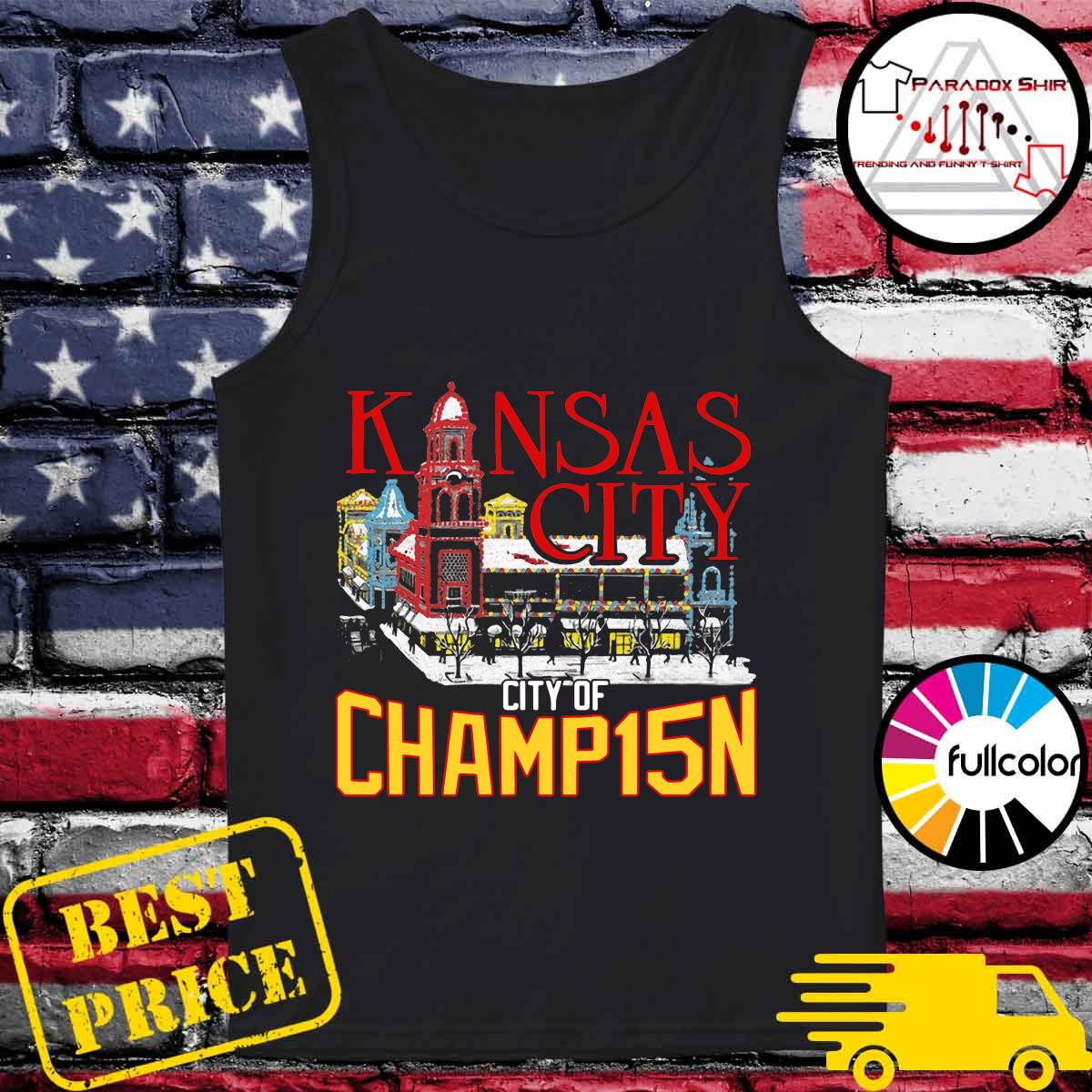 Kansas City City Of Champ15n Shirt Tank-top