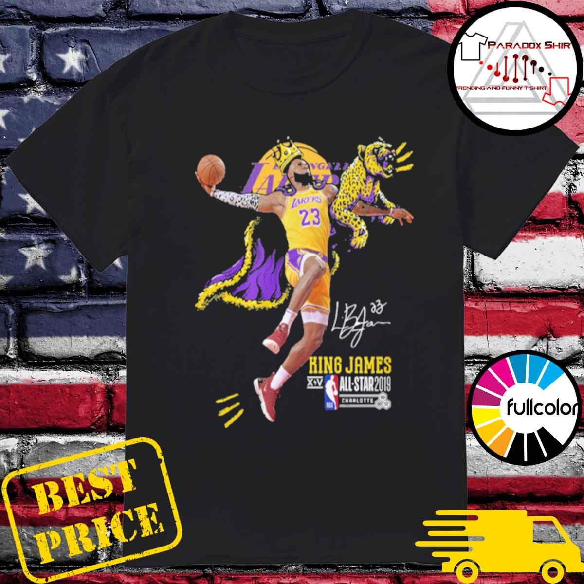 Los Angeles Lakers King James all star 2019 signature shirt
