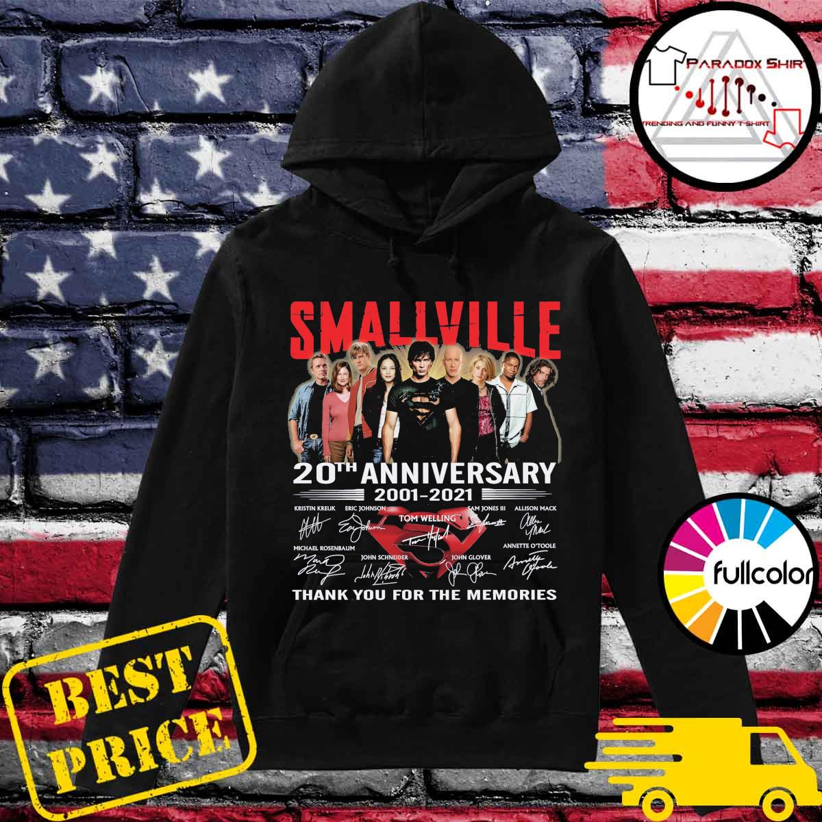 Smallville Tv series 20th Anniversary 2001 2021 signatures thank you for the memories s Hoodie