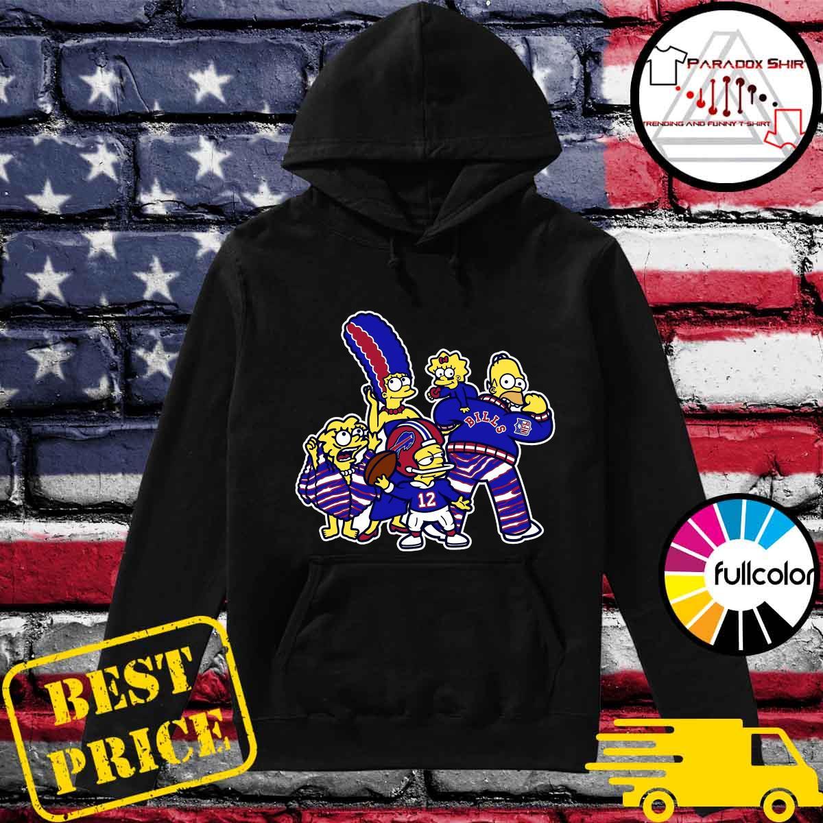 The Simpsons Buffalo Bills Football Shirt Hoodie
